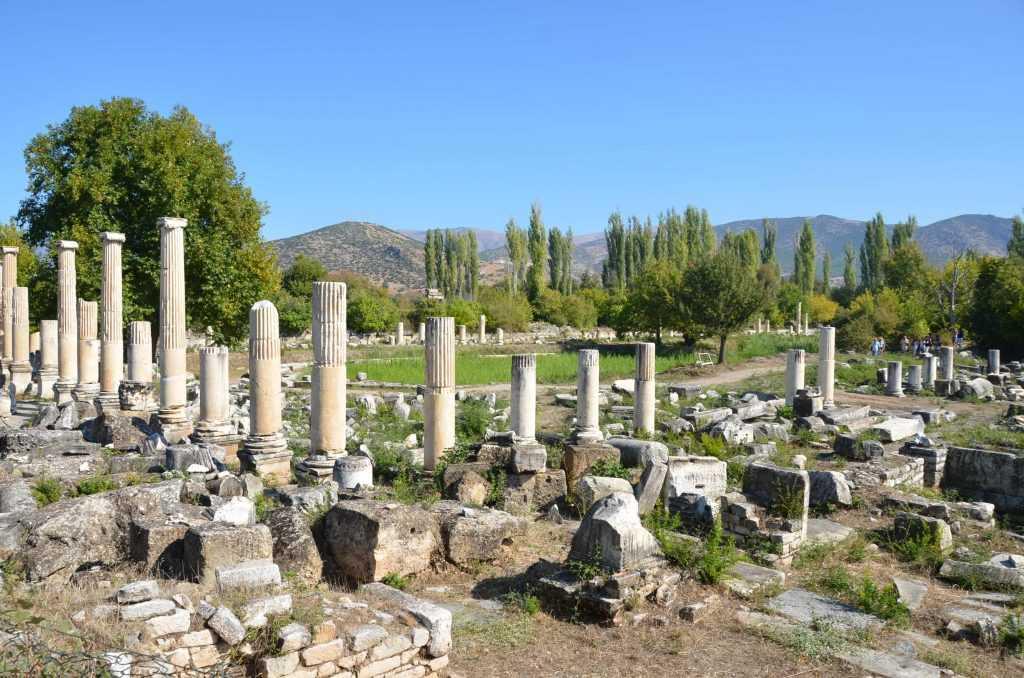 Afrodisias antik kent kalıntıları
